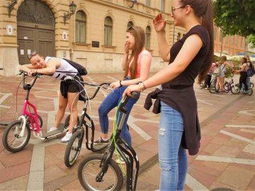 Kickbike-os városnézés