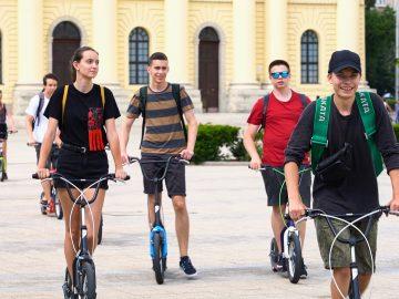 Kickbike-os városnézés Győr