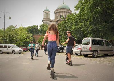 Kickbike-os városnézés Esztergomban