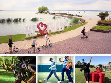 Keszthelyi egynapos osztálykirándulás kickbike-os városnézéssel