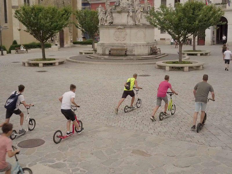 Kickbike-os városnézés Sopron