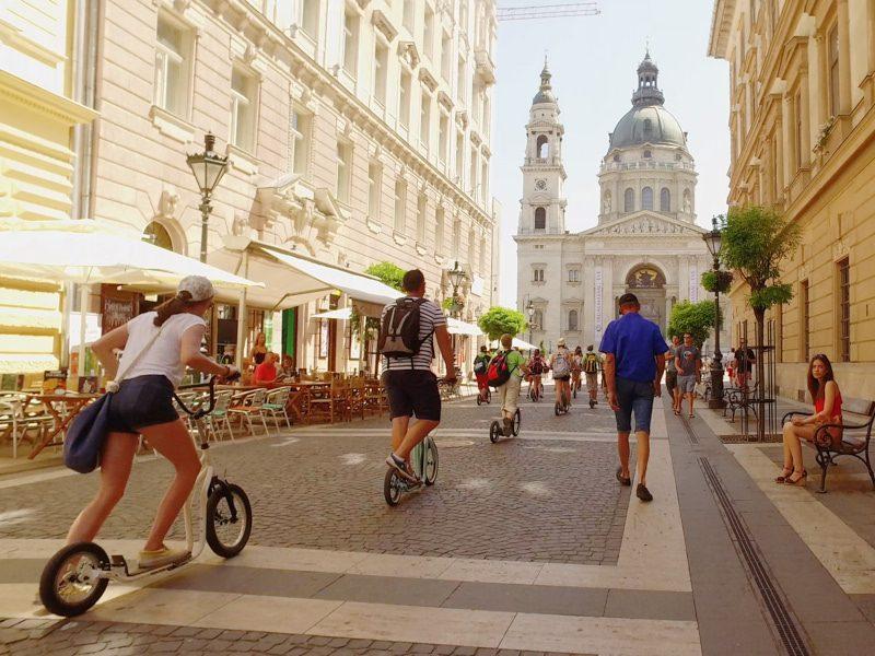 Budapesti egynapos osztálykirándulás kickbike-os városnézéssel
