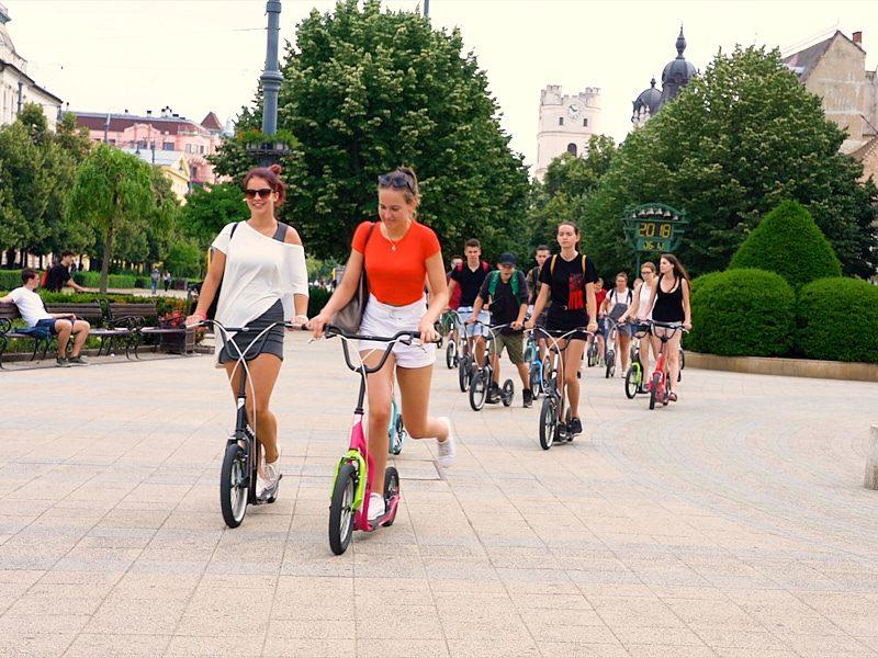 Debreceni egynapos osztálykirándulás kickbike-os városnézéssel