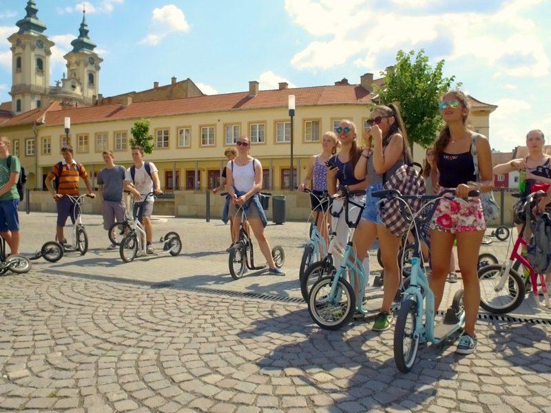 Legújabb egri egynapos osztálykirándulás kickbike-os városnézéssel