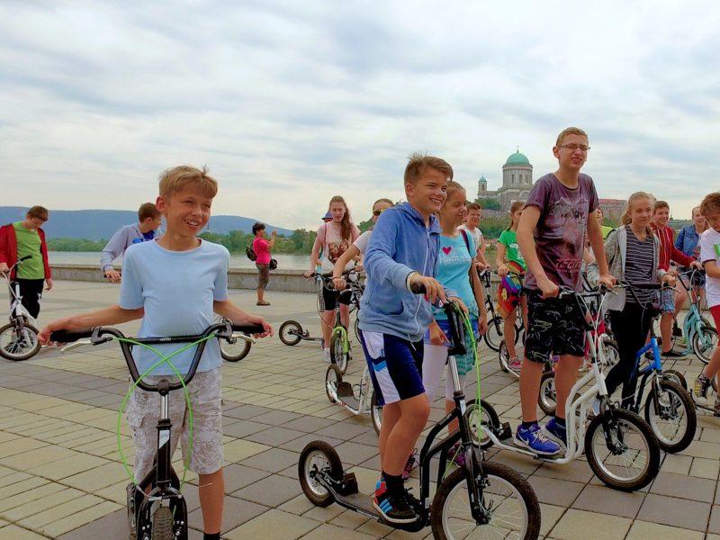 Esztergomi egynapos osztálykirándulás kickbike-os városnézéssel