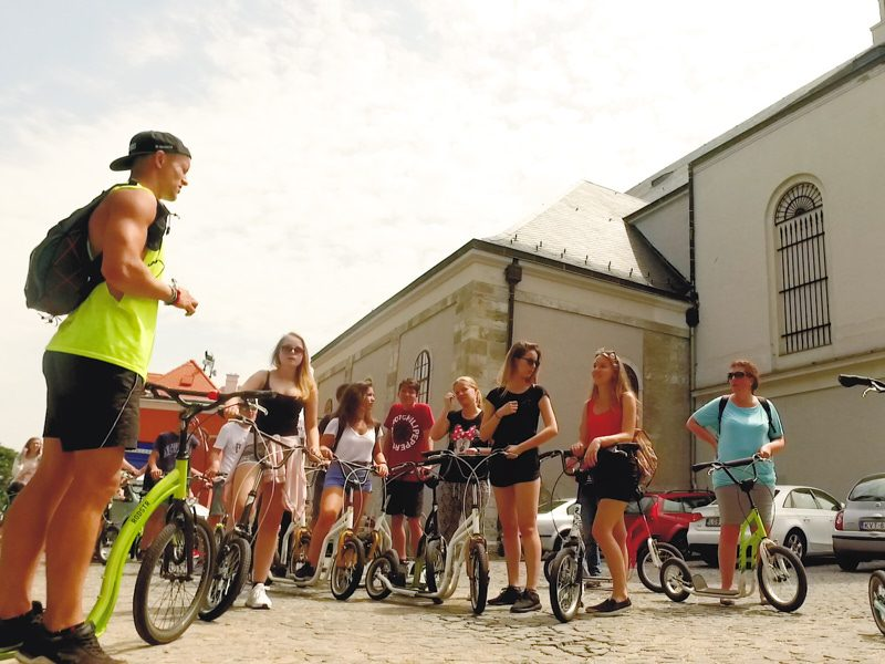 Győri egynapos osztálykirándulás kickbike-os városnézéssel