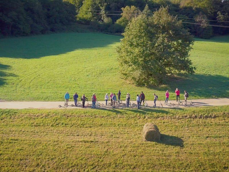 Orfűi egynapos osztálykirándulás kickbike-os városnézéssel